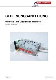 BEDIENUNGSANLEITUNG Wireless Time Distribution WTD 868-T