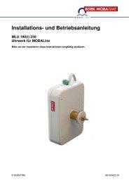 Installations- und Betriebsanleitung MLU 190(t) - Bürk Mobatime ...
