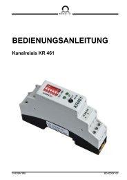Inst.-Anl. - Kanalrelais Switch KR 461 - Bürk Mobatime GmbH