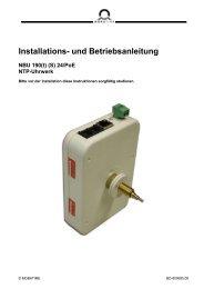 Installations- und Betriebsanleitung NBU 190(t) (S)