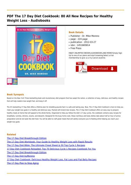 The 17 Day Diet Cookbook 80 All