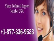 Yahoo Technical Support Number USA 1877-503-0107