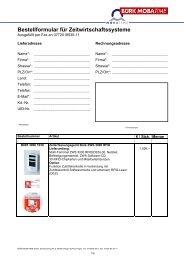 Bestellformular für Zeitwirtschaftssysteme - Bürk Mobatime GmbH