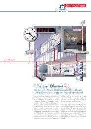 Time over Ethernet ToE - Bürk Mobatime GmbH
