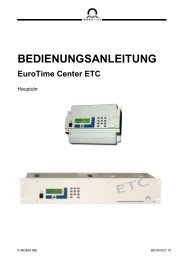 BEDIENUNGSANLEITUNG EuroTime Center ETC - Bürk Mobatime ...