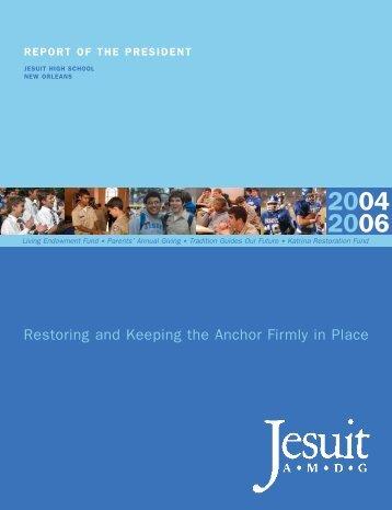President's Donor List - Jesuit High School