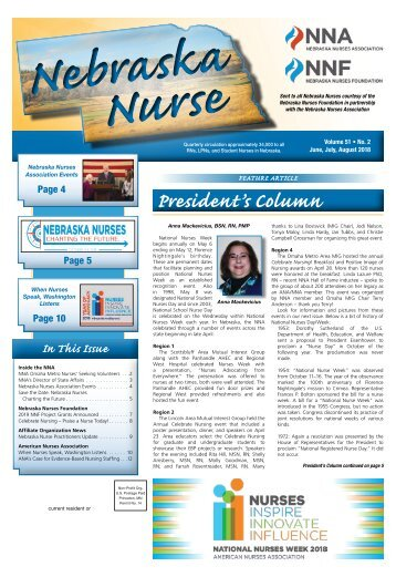 Nebraska Nurse - June 2018