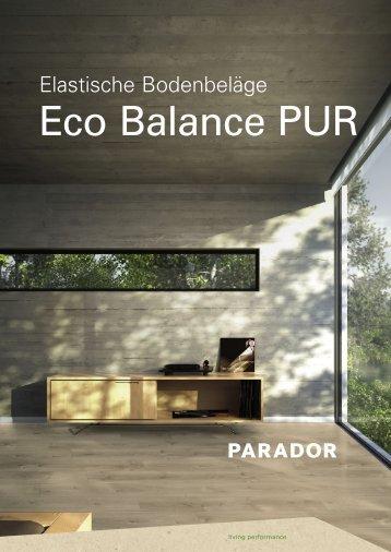 Parador Elastische Bodenbeläge Eco Balance PUR 2018