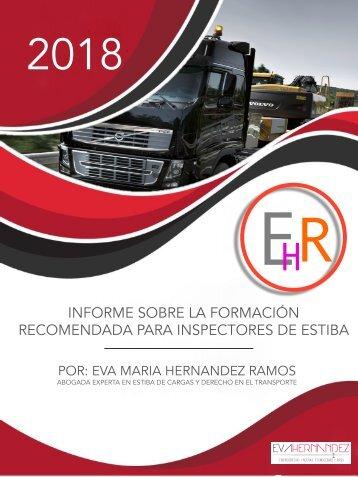 INFORME EHR. Formación recomendada inspectores de estiba en camión