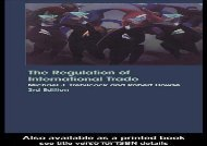 [PDF] The Regulation of International Trade Download by - Michael Trebilcock