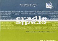 [PDF] Cradle to Cradle: Remaking the Way We Make Things Download by - William McDonough