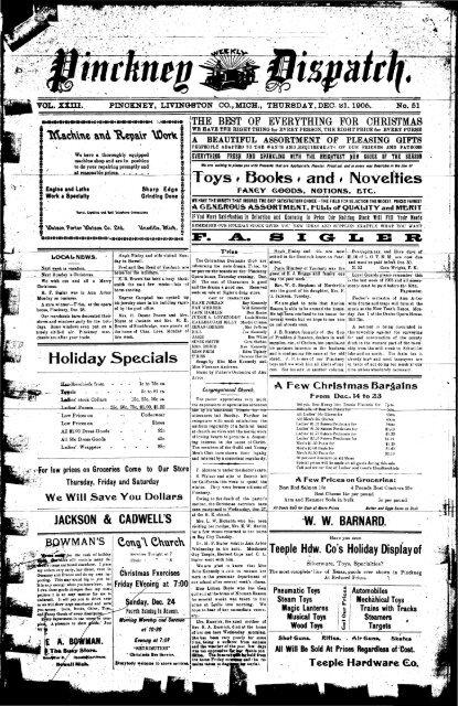 12-21-1905 - Village of Pinckney
