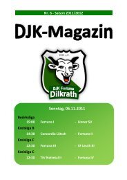 Tabelle Kreisliga C 2011/2012 - Fortuna Dilkrath