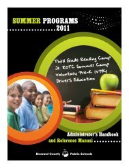 SUMMER PROGRAMS 2011 - SBBC • Department of Instructional ...