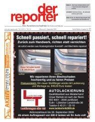 der reporter - Das Familienwochenblatt für Eutin und Malente 2009 KW 37