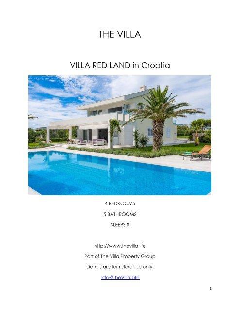 Villa Red Land - Croatia