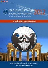 w/m - Deutscher Luft- und Raumfahrtkongress 2012 - Deutsche ...