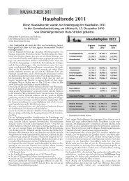 Haushaltsrede 2011 - Stadt Bühl