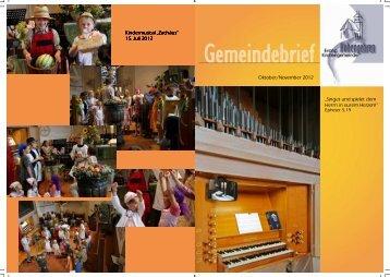 Gemeindebrief Oktober/November 2012 - Evangelische ...