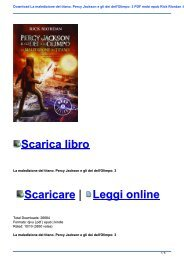 Download La maledizione del titano. Percy Jackson e gli dei dell\'Olimpo: 3 PDF mobi epub Rick Riordan :It59