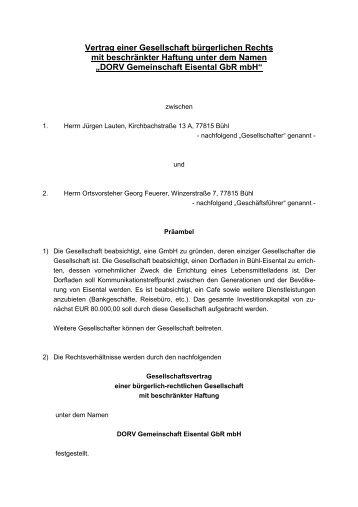 DORV-Gesellschaftsvertrag