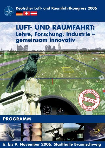 DGLR Programm 2006 - Deutsche Gesellschaft für Luft