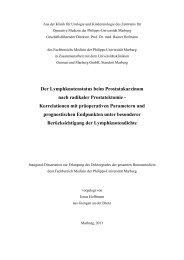 Der Lymphknotenstatus beim Prostatakarzinom nach radikaler ...
