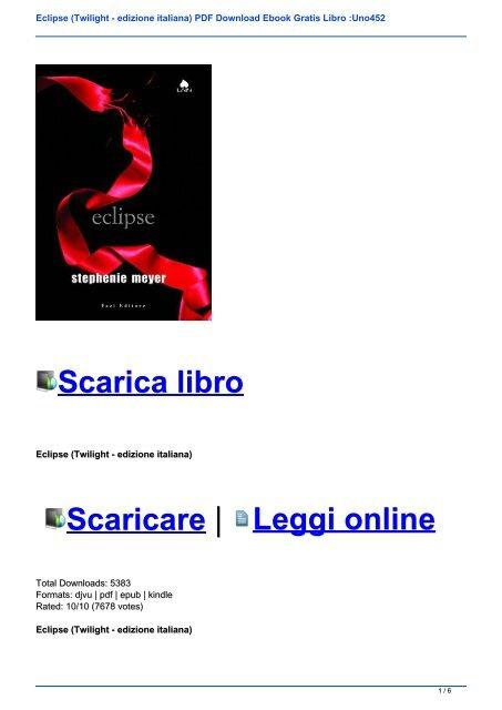Twilight Ebook Ita Gratis