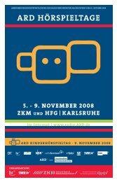 Rund um die Hörspieltage [pdf] Mehr zum Festival - ARD