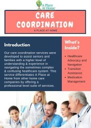 Know About Care Coordination Services at Senior Home Health Business