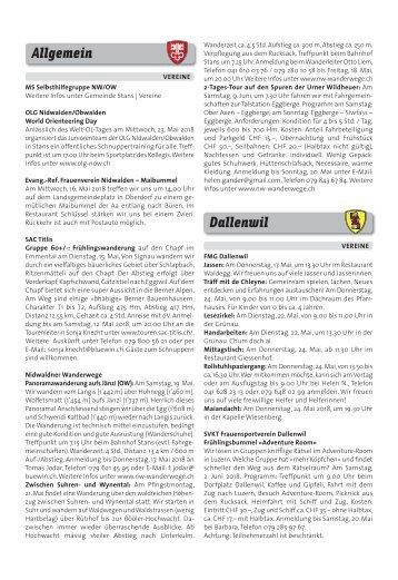 Gemeindespalten KW19 / 11.05.18