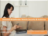 Uninstall Bitdefender Mobile Security & Antivirus