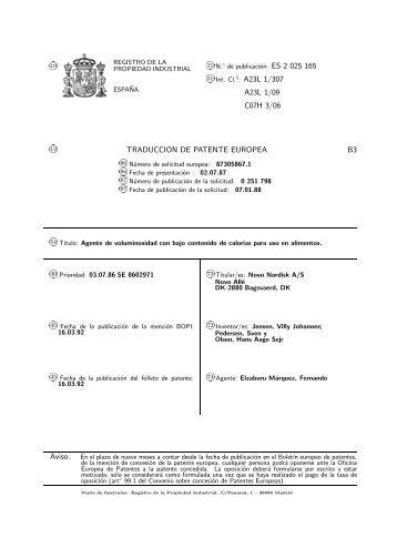 CARGA BAJA EN CALORIAS, METODO DE PRODUCCION, USO Y ...