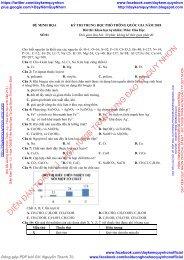 Bộ đề thi thử THPTQG năm 2018 - Môn Hóa học - NGUYỄN MINH TUẤN - Luyện đề chuẩn bị kỳ thi THPT 2018 - 30 ĐỀ + ĐÁP ÁN
