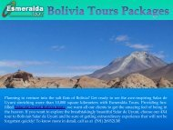 Bolivia Tours Packages