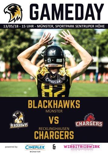 Münster Blackhawks Football - Gamedayheft 13. Mai