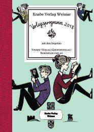 Knabe Verlag Weimar - Verlagsprogramm 2018
