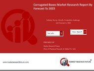 Corrugated Boxes Market Research Report - Forecast To 2023