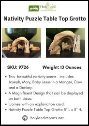Beautiful Nativity Puzzle Table Top Grotto