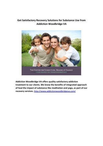 Get Satisfactory Recovery Solutions for Substance Use from Addiction Woodbridge VA