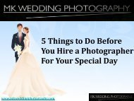 Hire a photographer for your special day