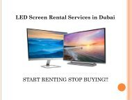 Call us @ 0557503724 for LED Screen Rental Service in Dubai