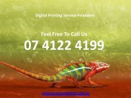 Digital Printing Service Providers
