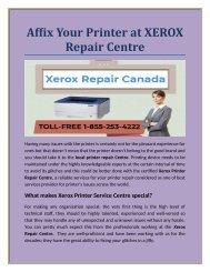 Affix Your Printer at XEROX Repair Centre