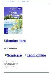Download Tahiti e la Polinesia francese Pdf Gratis ITA