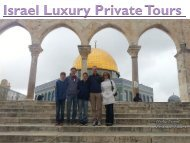 Israel Luxury Private Tours