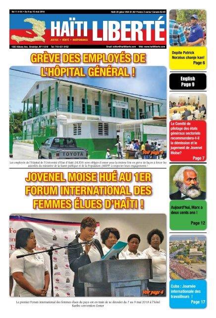 Haiti Liberte 9 Mai 2018
