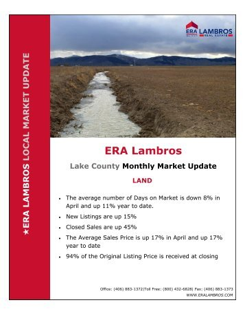 Lake County Land Update - April 2018