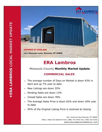 Missoula Commercial Update - April 2018
