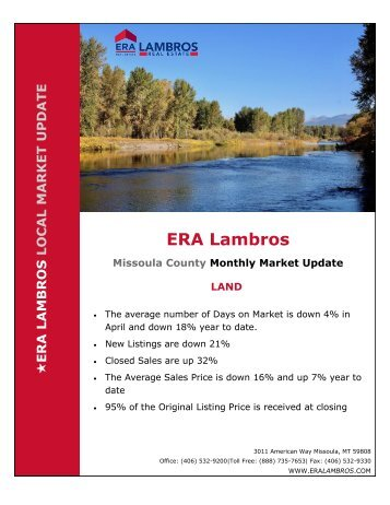 Missoula Land Update - April 2018